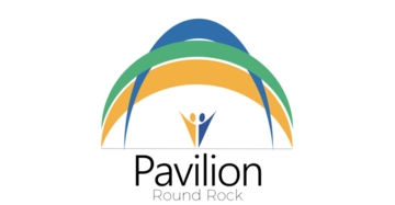 Logo of Pavilion clubhouse includes the words Pavilion and Round Rock.