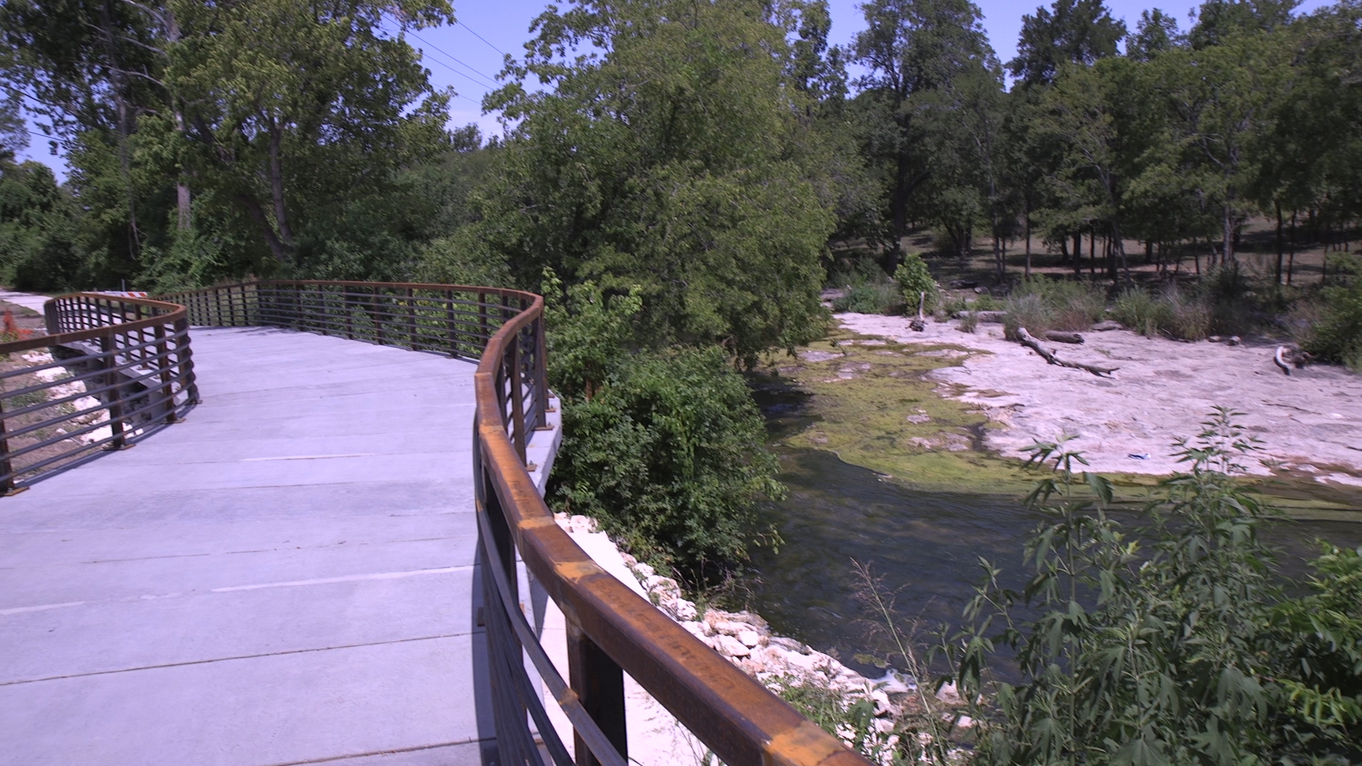 Another section of the new Brushy Creek Trail over Brushy Creek as part of Phase V.