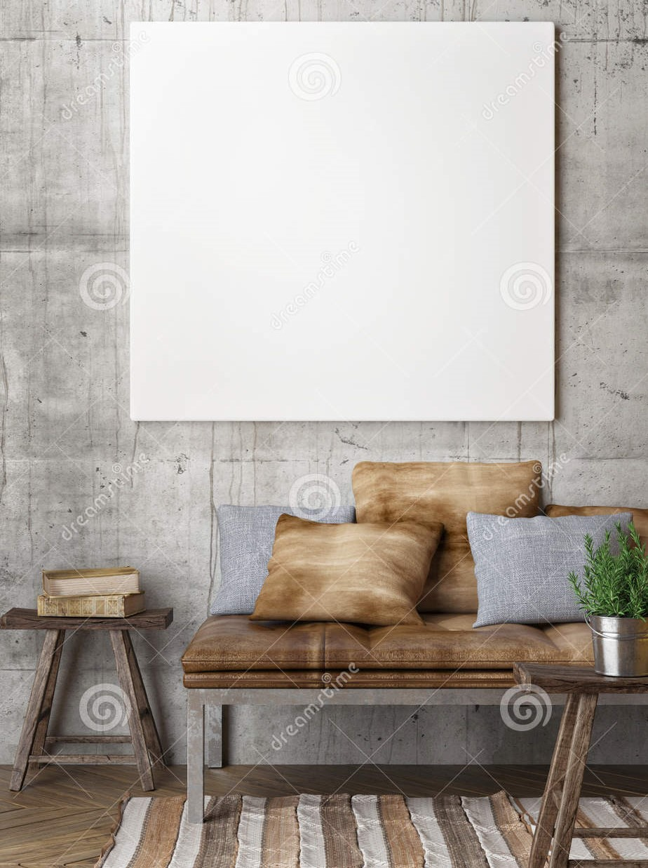 Icon photo of a sitting area with two tables and a white board on the wall from Dreamstime.