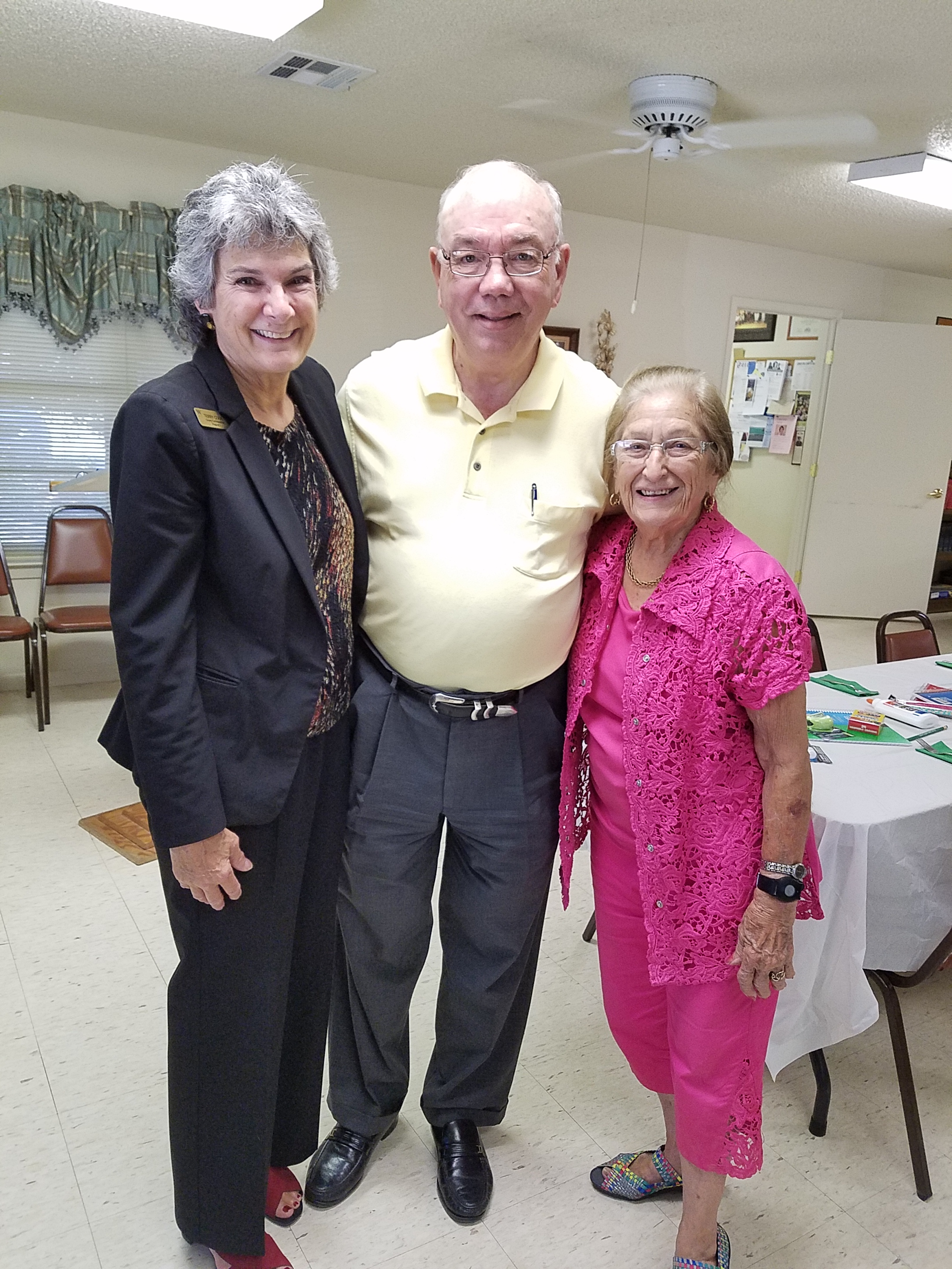 Commissioner Cook is pictured with Ed Komandasky and Grace Bulgerin Lidell.