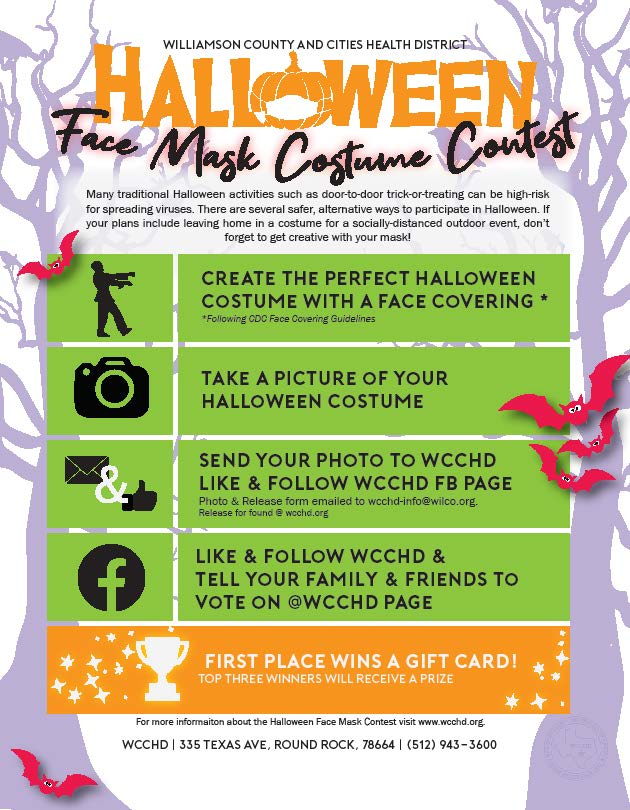 Poster of Halloween Face Mask Costume Contest flyer.