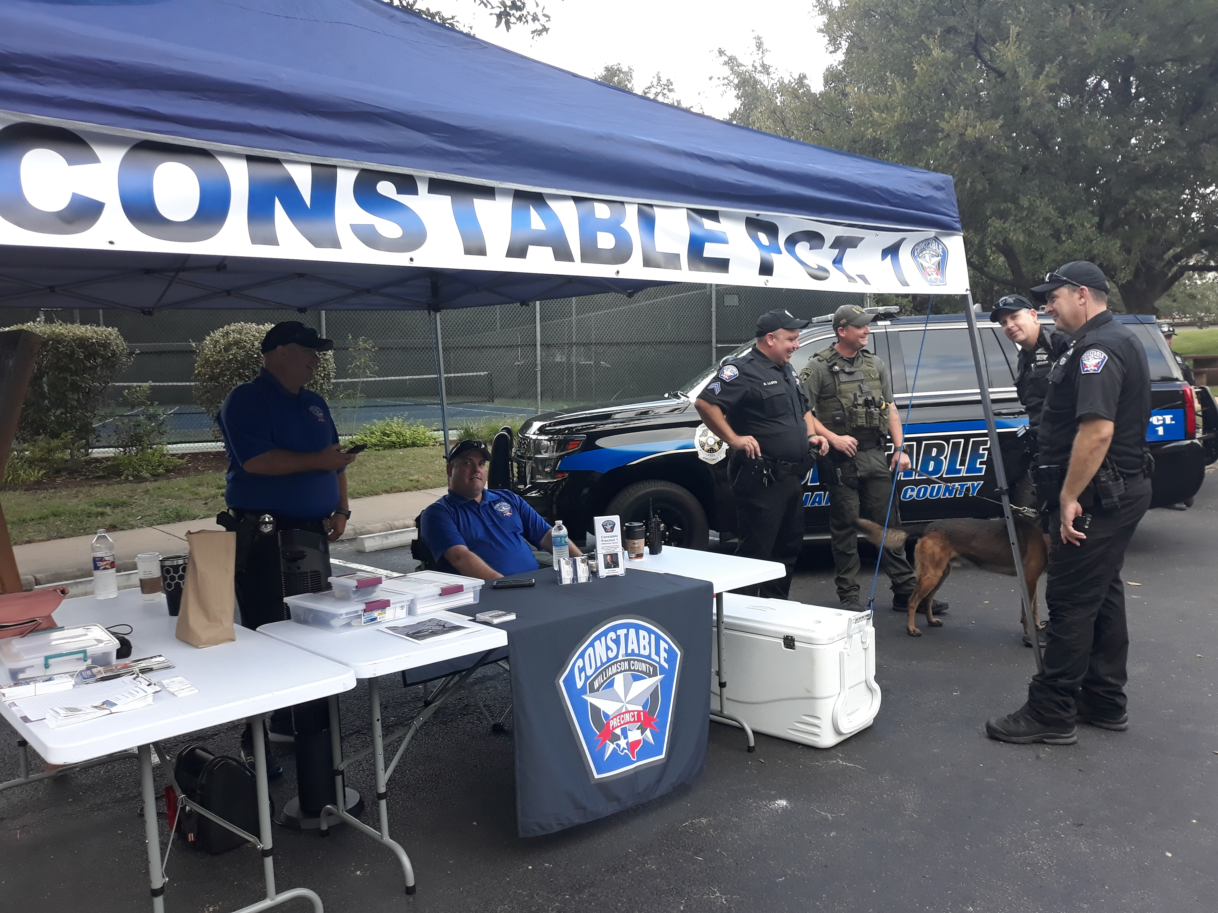 Precinct 1 Constable Vinnie Cherrone and his deputies shared their booth with Commissioner Cook.