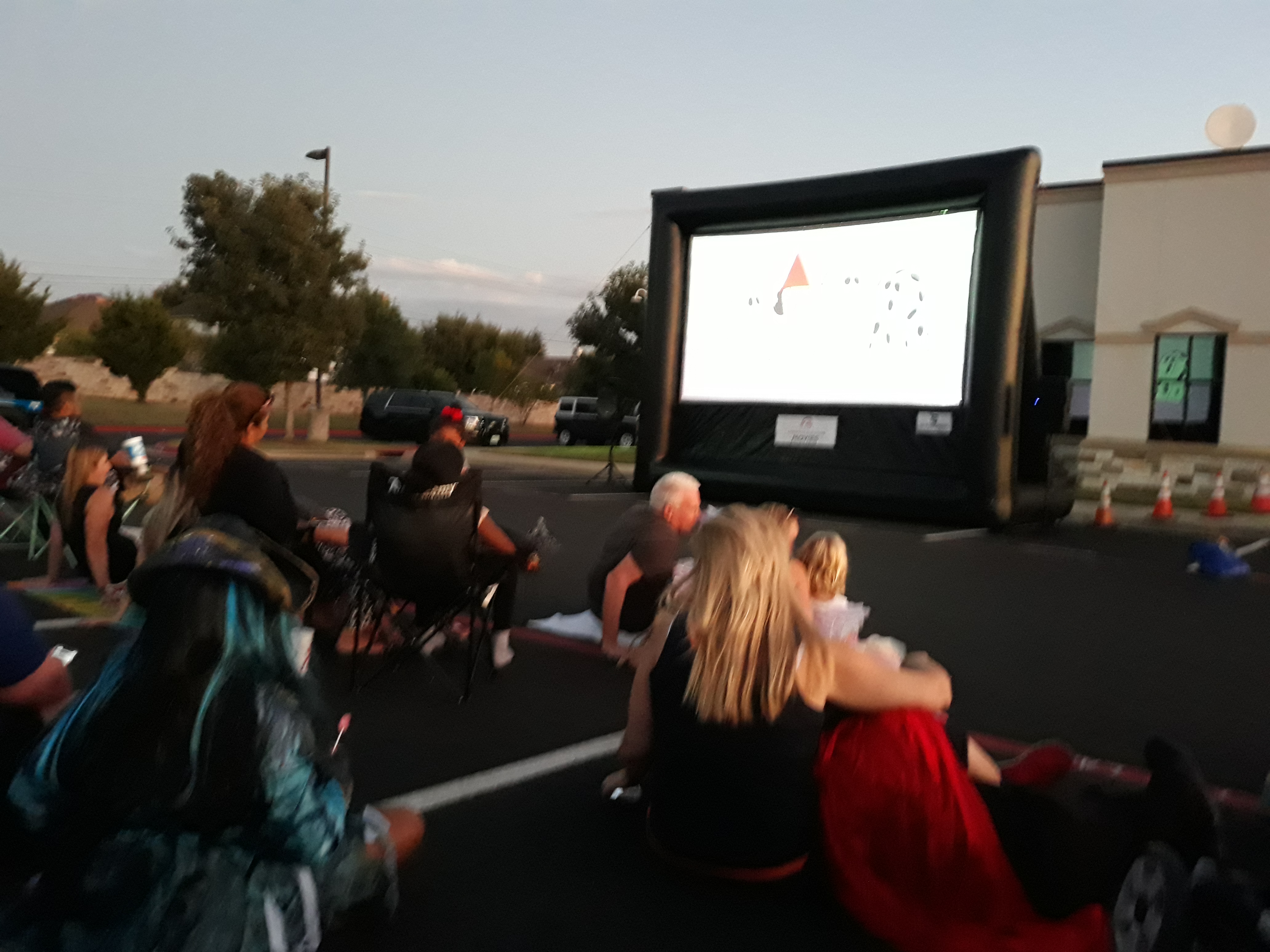 As the evening got dark, visitors got to watch the Great Pumpkin Charlie Brown movie presented by Constable Precinct 1.
