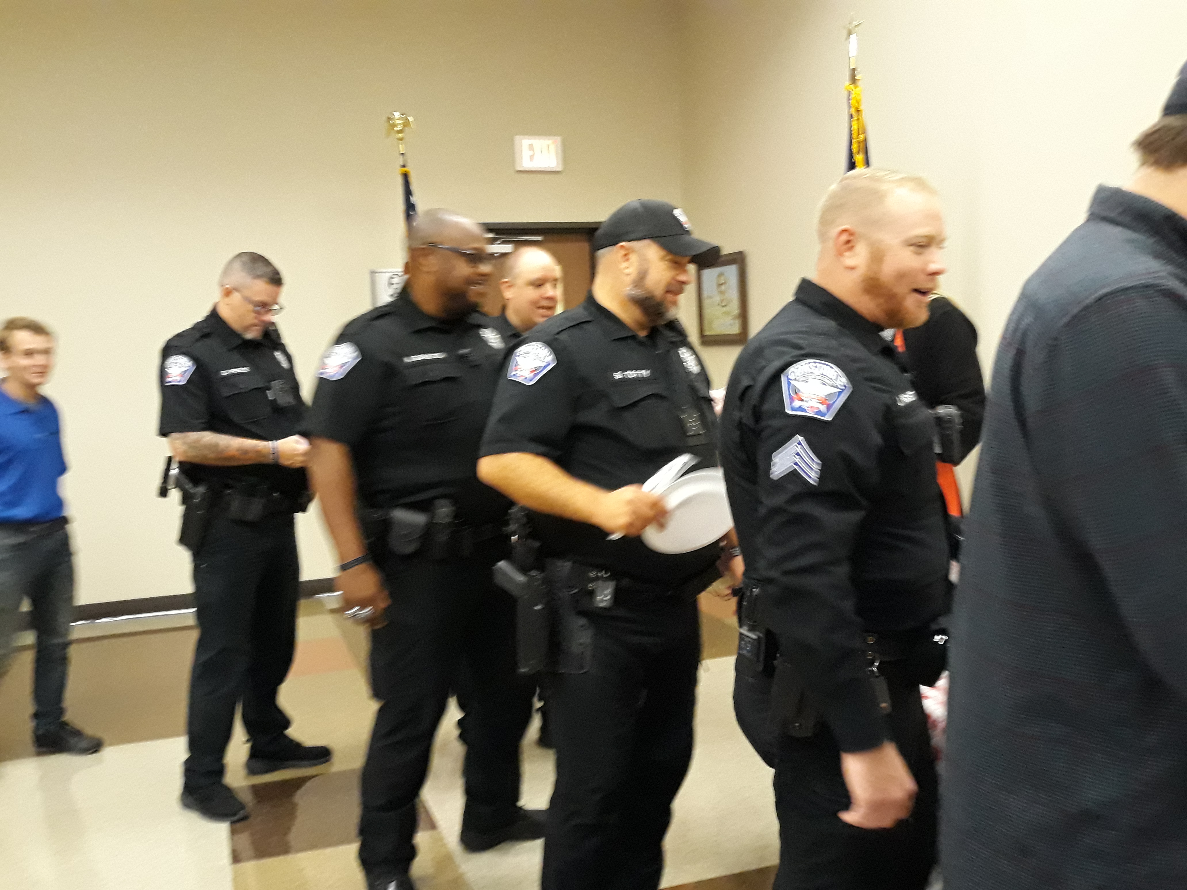 Shown standing in the lunch line are Wilco Pct. 1 Constable Deputies and other guests.