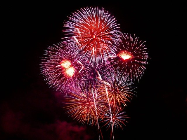 Image of fireworks by PublicDomainPictures from Pixabay.