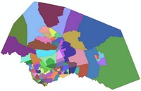 Map depicting Census 2010 Tract