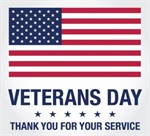 Veteran's Day observed- all office closed