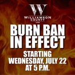 Countywide Burn Ban Goes Into Effect at 5 p.m. on July 22, 2020