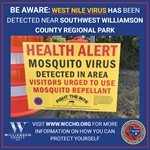 Mosquito Trap Tests Positive for West Nile Virus; Southwest WilCo Regional Park Adjusts Hours