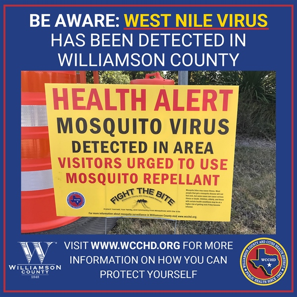 WCCHD Reports Second Human Case of West Nile Virus This Year