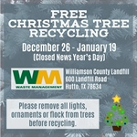 Free Christmas Tree Recycling Offered at Williamson County Landfill