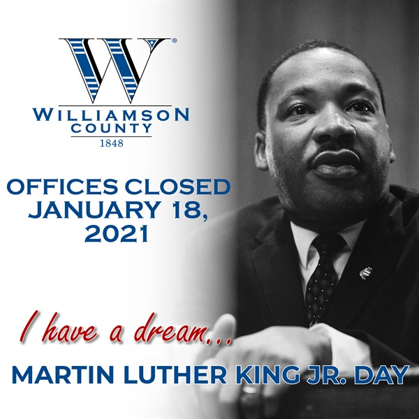 County Offices Closed on MLK Jr. Day