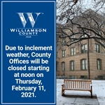County Offices Close at Noon on February 11