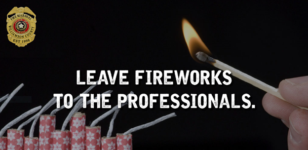 Firework image state Leave fireworks to the professionals