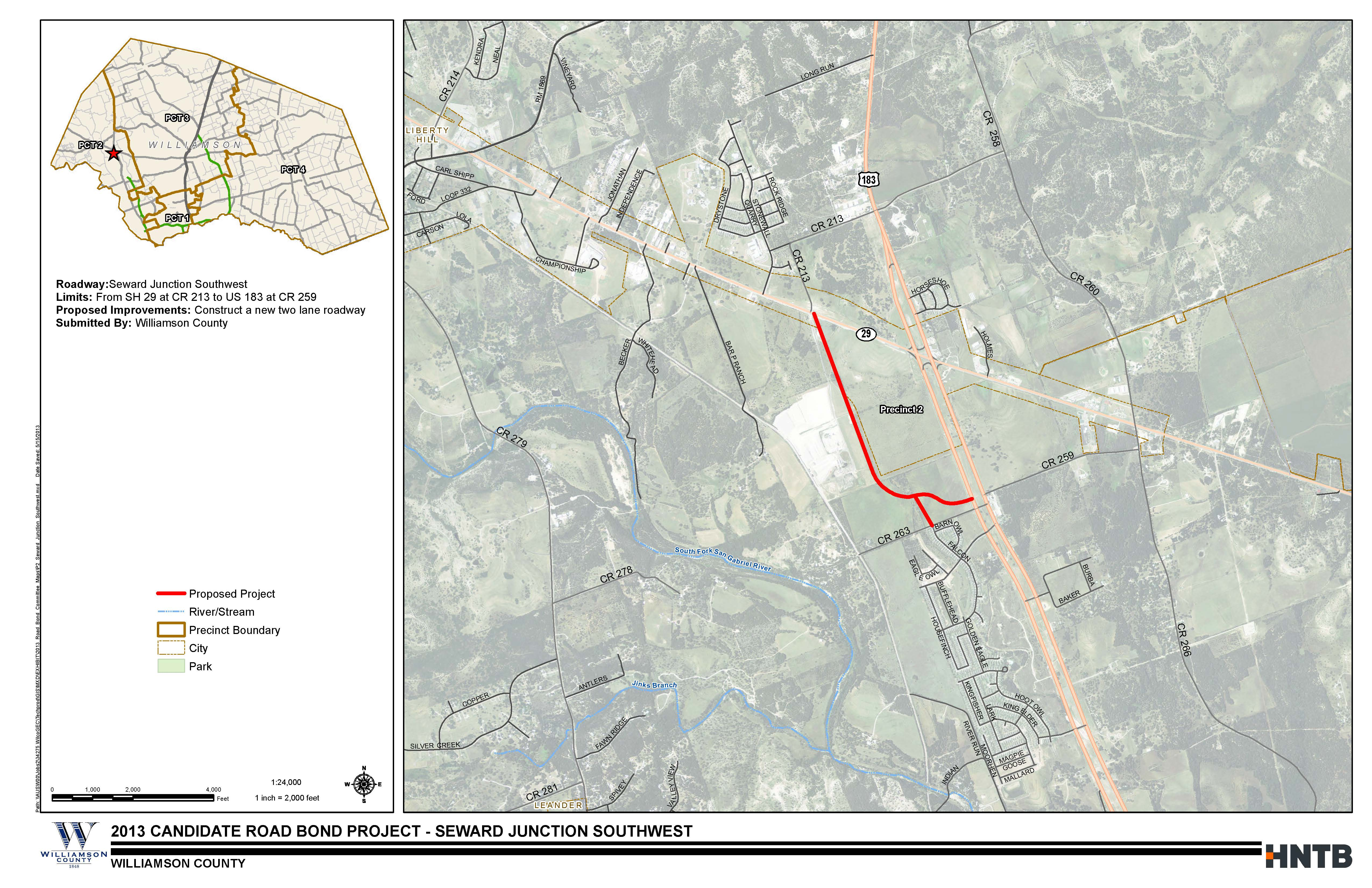 Seward Junction Southwest Project Map