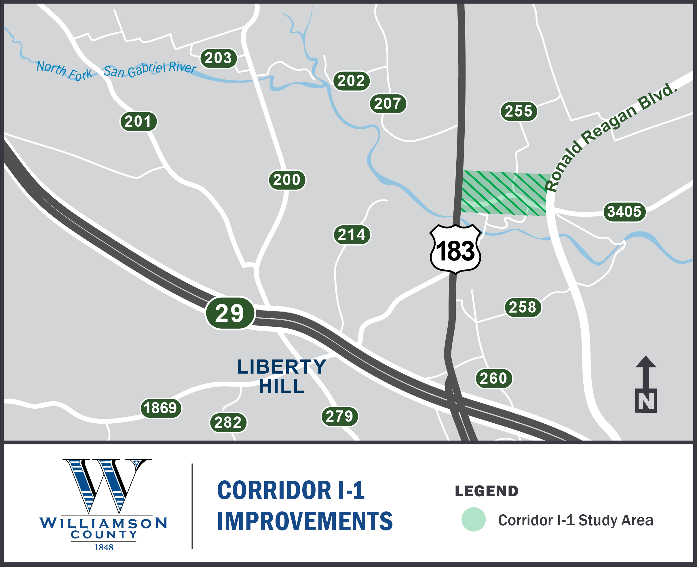 Project Map for Corridor l-1