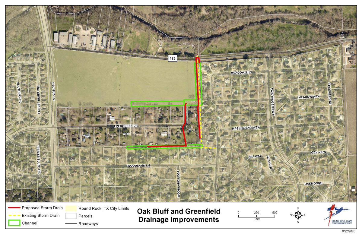 Project Map for Oak Bluff