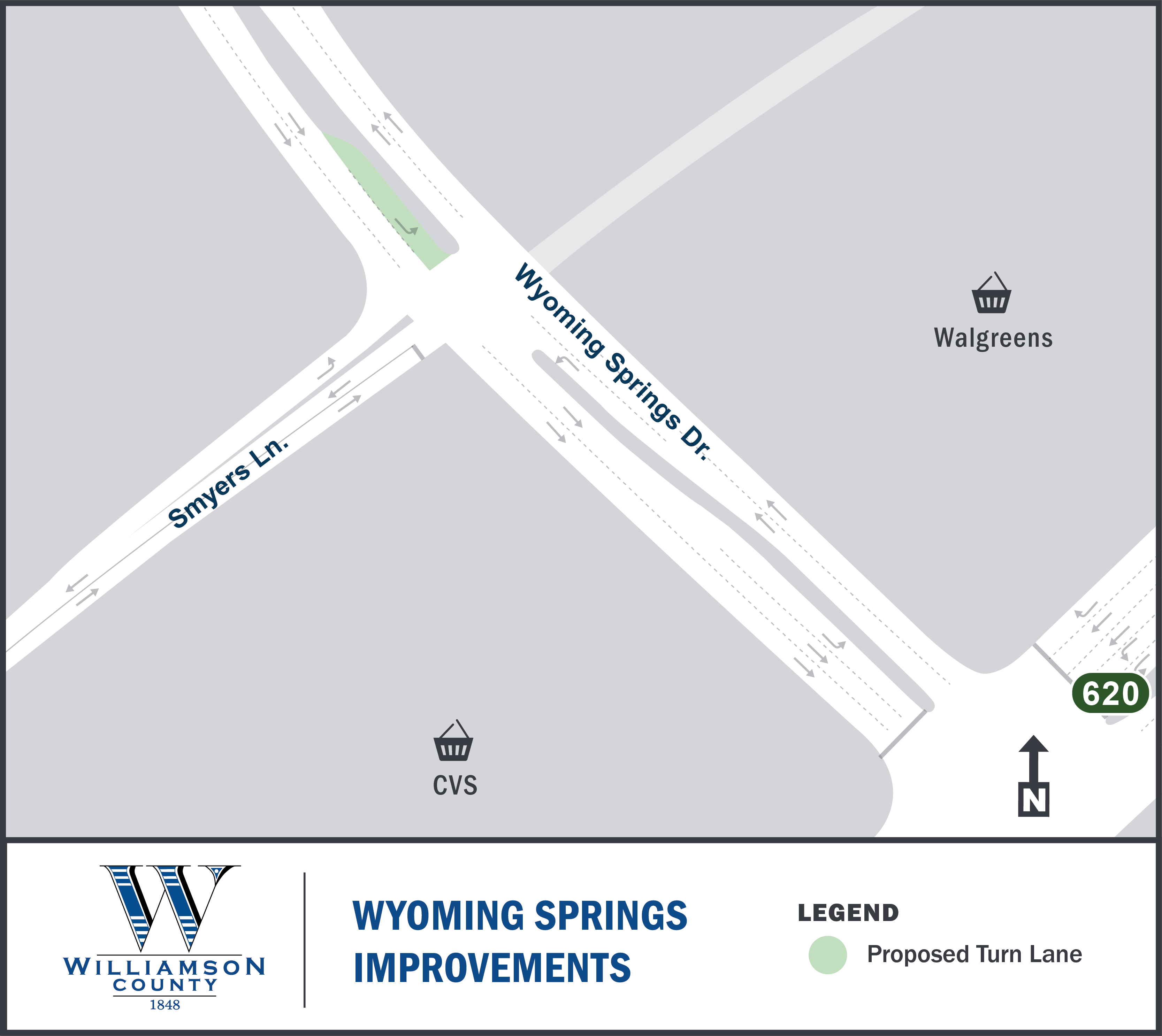 Project Map for Wyoming Springs Intersection