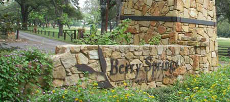 Berry Springs Entrance Sign