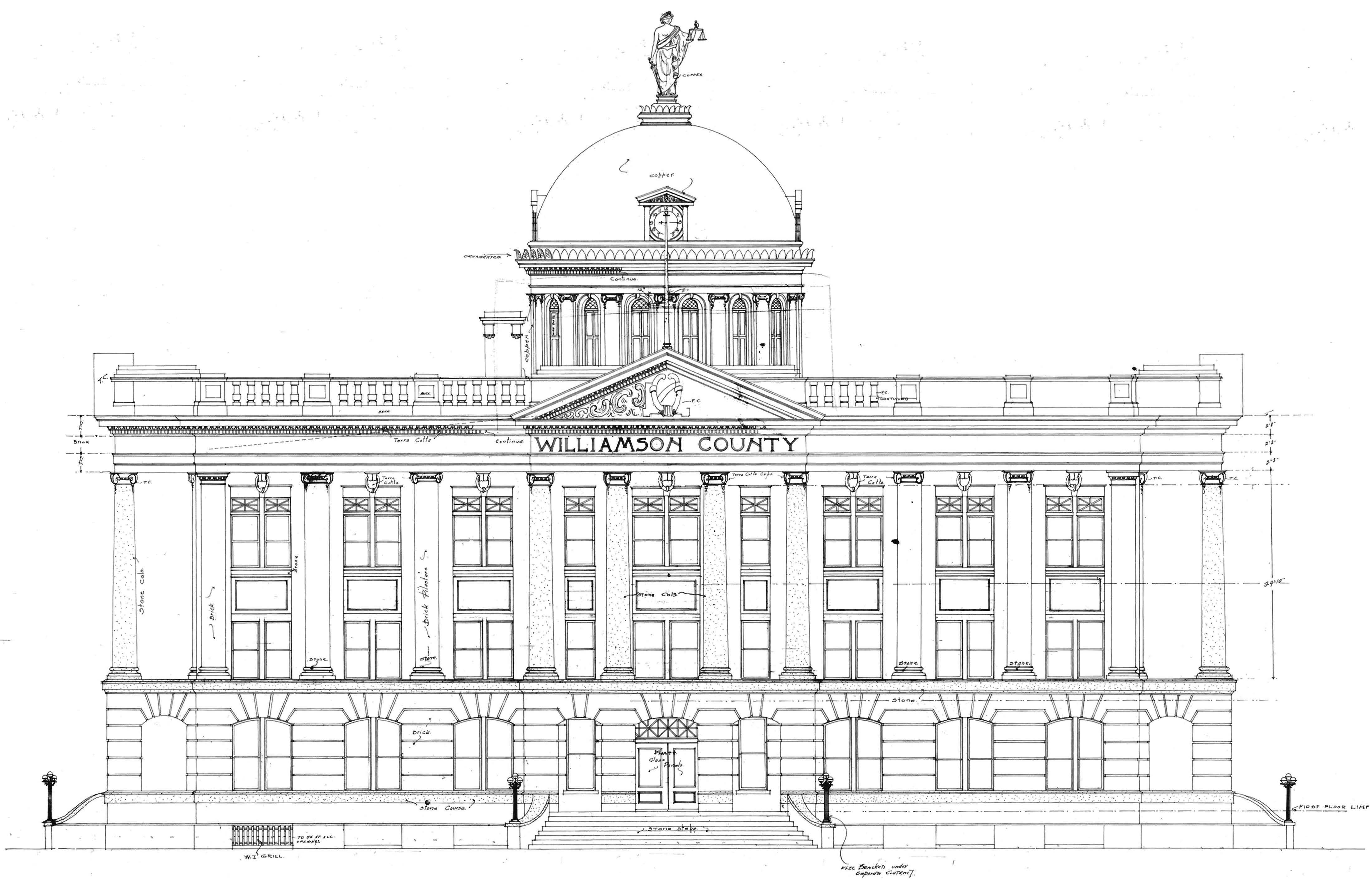 Historic Courthouse Coloring Page