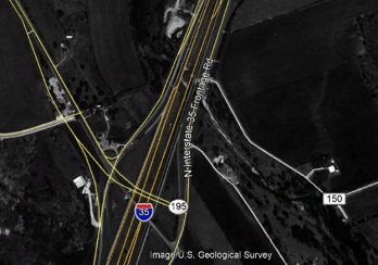 Historical Google Earth image of vicinity where Kevin Key's remains and wallet were found in 1978. This image is from 1995, the oldest image available for this location.