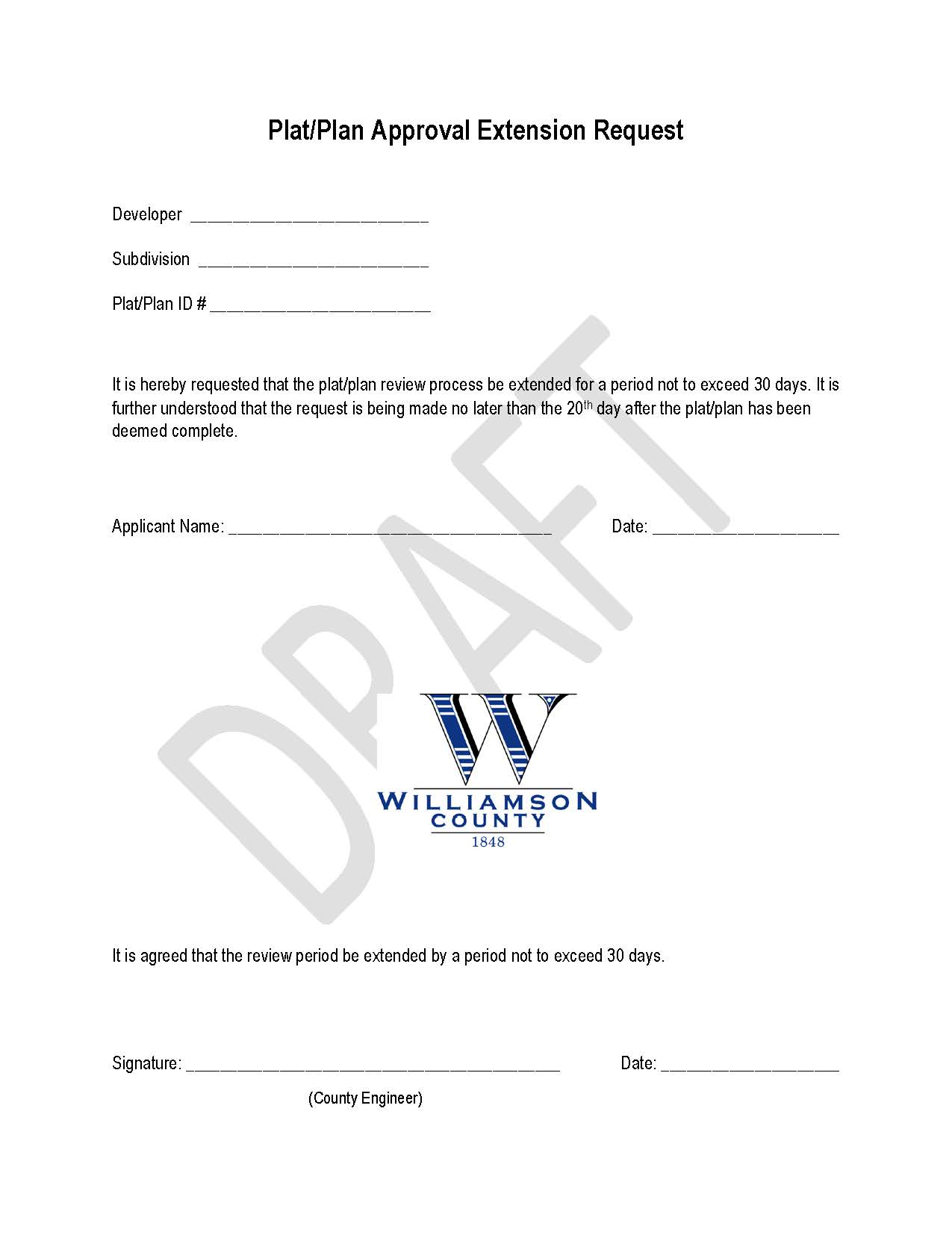 Extension Request Form